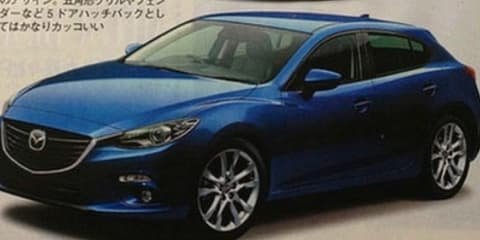Mazda 3: leaked images appear in Japanese magazine
