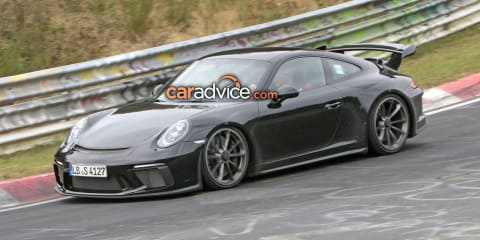 2017 Porsche 911 GT3 facelift spied at the Nurburgring