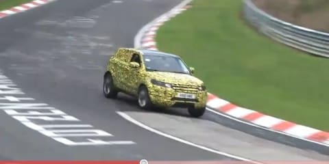 Video: Range Rover Evoque prototype on the Nurburgring