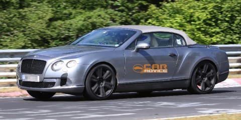 2012 Bentley Continental GTC spy shots at Nurburgring