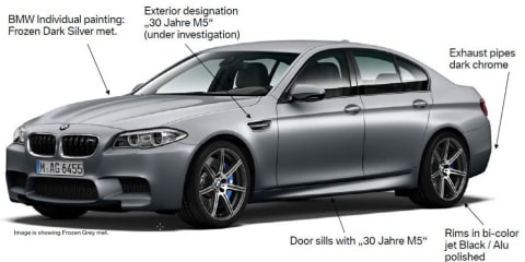 BMW M5 30th Anniversary :: 15 limited edition 441kW super sedans for Australia