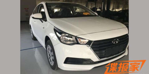 2017 Hyundai Accent possibly spied in China