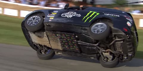 Terry Grant sets two-wheel record at Goodwood - video