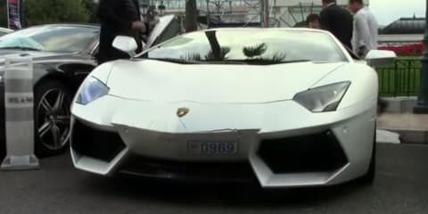 Lamborghini Aventador damaged in valet parking accident