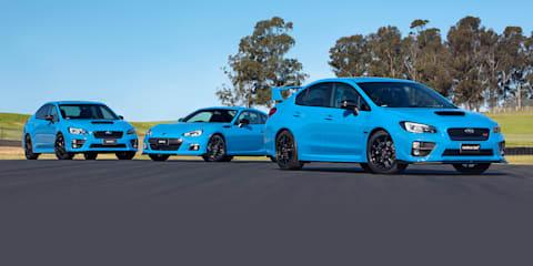 Subaru WRX, WRX STI and BRZ Hyper Blue specials on sale in Australia