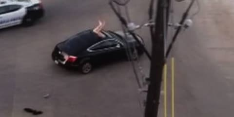Naked invader: Man jumps through sunroof, attacks woman