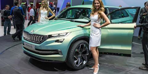 Skoda VisionS large SUV premieres in Geneva