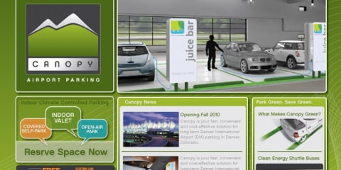 BMW DesignworksUSA eco-minded parking lot to accommodate electric vehicles