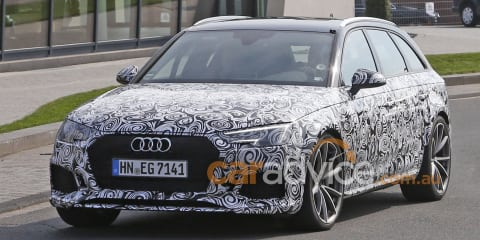 2017 Audi RS4 Avant spied testing