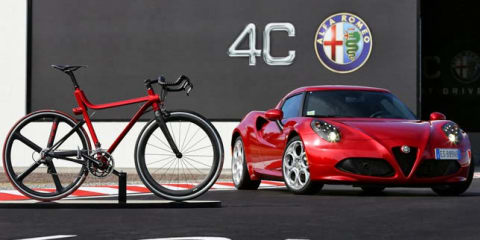 Alfa Romeo reveals 4C-inspired, $5K road bike