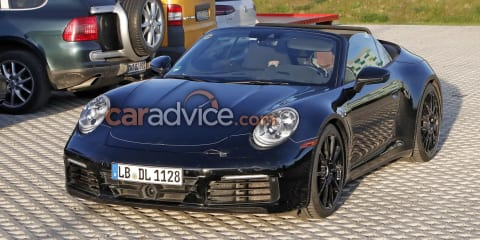 2019 Porsche 911 spied with the top down