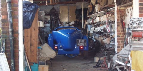 Bugatti and Lancia Spider discovered in UK garage