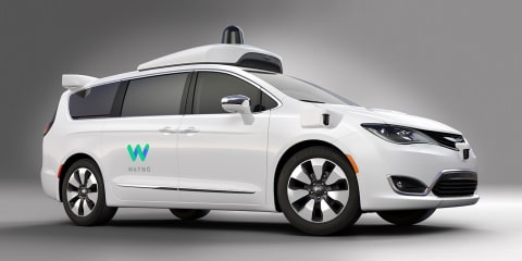 Self-driving Chrysler Pacifica revealed by Google's Waymo and FCA
