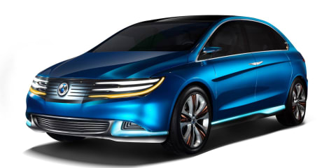 Denza EV concept emerges from Daimler's Chinese partnership