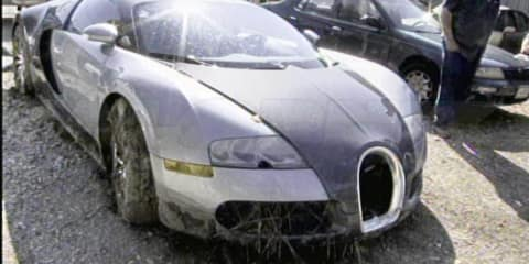 Bugatti Veyron lagoon crash aftermath gallery
