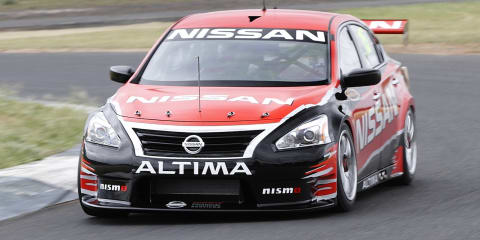 Nissan Altima V8 Supercar shakedown video