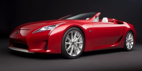 Lexus LF-A prototype enters the 'Ring