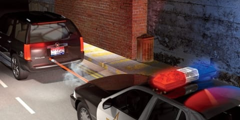 Police fire GPS-tracker onto getaway cars