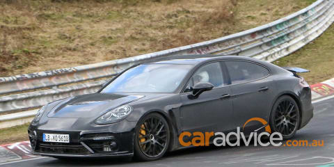 2017 Porsche Panamera spied testing at the Nurburgring