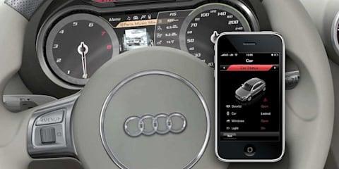 Audi iPhone app 'CarMonitor' tracks car position