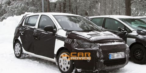 2012 Hyundai i20 facelift spy shots