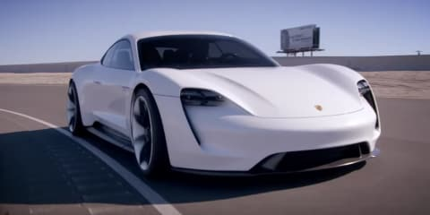 Adam Levine drives the Porsche Mission E concept – Video