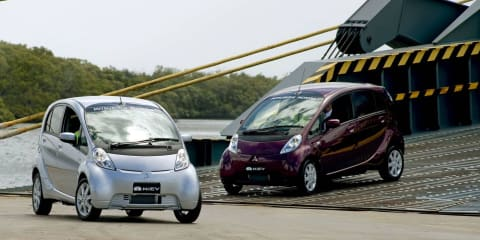 Mitsubishi i-MiEV docks, Australian allocation boosted to 110 for 2010