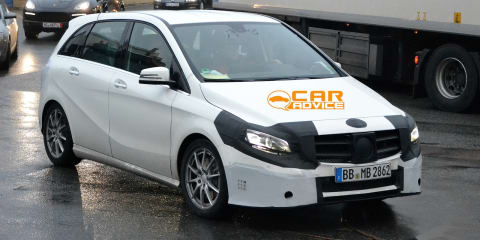 Mercedes-Benz B-Class: new images of facelifted MPV