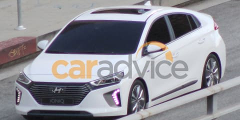 2016 Hyundai Ioniq hybrid spotted undisguised in USA