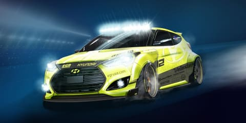 Hyundai Veloster Turbo: 'Yellowcake' SEMA show car revealed
