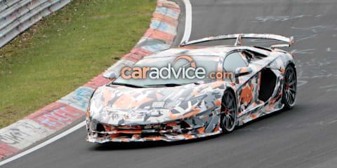 Lamborghini Aventador SV Jota spied again
