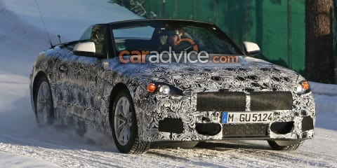 2018 BMW Z5 spied top down alongside Toyota Supra coupe