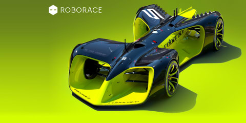 Roborace series reveals robo racer concept
