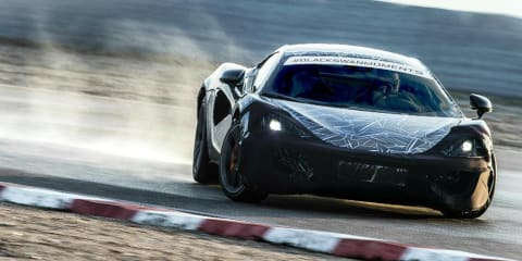 McLaren Sports Series shown undergoing testing
