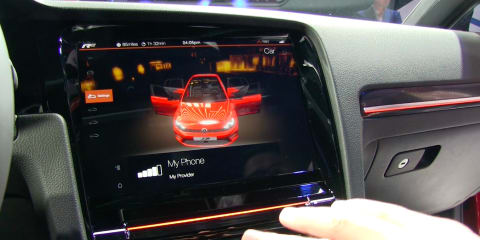 Volkswagen Golf R Touch gesture control: Experimental interior hands-on impressions