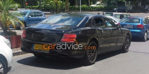 2019 Bentley Flying Spur spied with production body