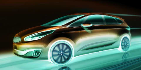 Kia Rondo: sketches reveal sleek new compact people mover