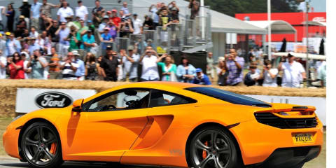 McLaren MP4-12C Supercar takes Pole Position at Goodwood