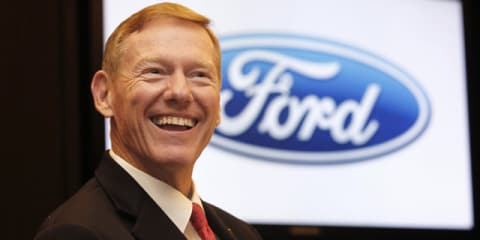 "Ford boss Mulally ""focused"" despite reports of Microsoft switch"