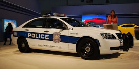 Australian built Chevrolet Caprice police car unveiled at LA Motor Show