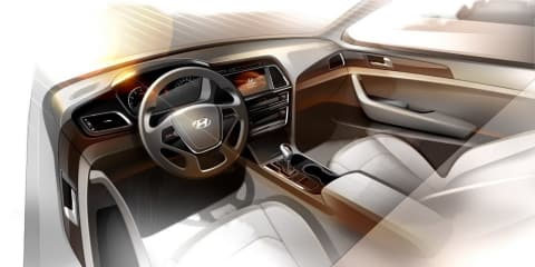 Hyundai Sonata interior revealed in new sketch