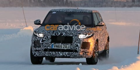 Jaguar E-Pace mule spy photos