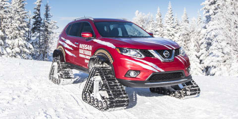 Nissan Rogue Warrior tackles ski slopes with track conversion