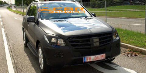 2011 Mercedes-Benz ML-Class spied