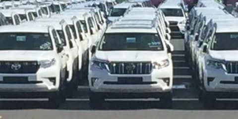 2018 Toyota Landcruiser Prado spied, due to land locally this year