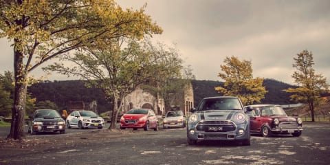 Old v New : 1994 v 2014 Subaru WRX, 1989 v 2014 Peugeot GTi, 1968 v 2014 Mini Cooper S