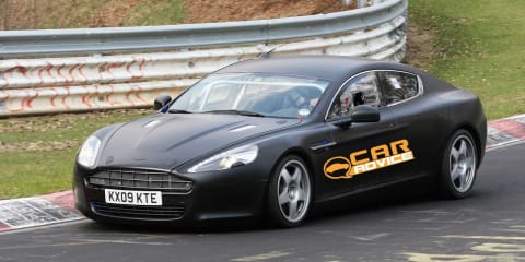 Aston Martin Rapide at Nurburgring