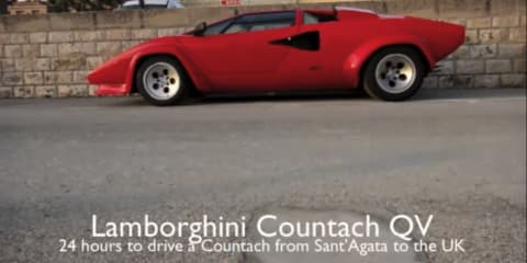 Video: Lamborghini Countach QuattroValvole drive from Sant'Agata to UK