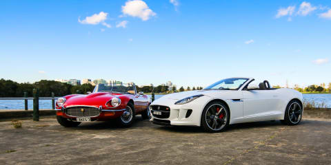 Jaguar F-Type Roadster v Jaguar E-Type Roadster : 21st century sports car v icon
