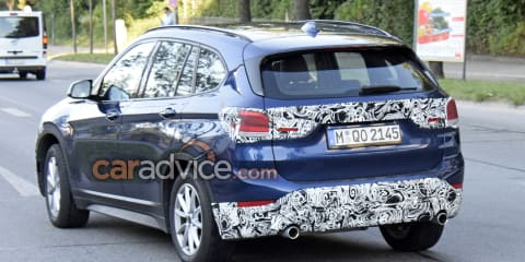 2019 BMW X1 facelift spied